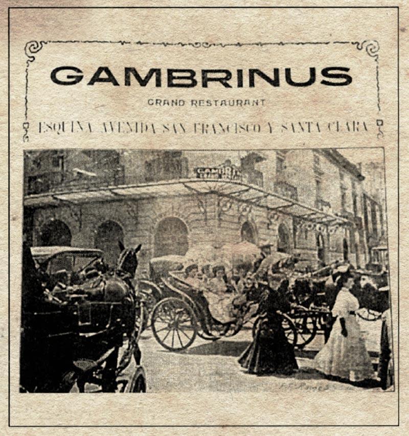 Vista del Restaurante Gambrinus que se ubicaba en la esquina de las calles de San Francisco y Motolinía. Crédito: https://www.google.com.mx