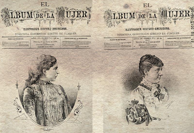 Portadas de El Album de la Mujer (AGN).