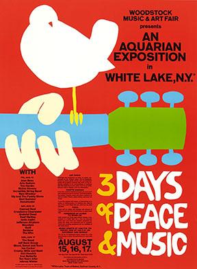 Imagen 2. Cartel del Festival Imagen de Woodstock '69.