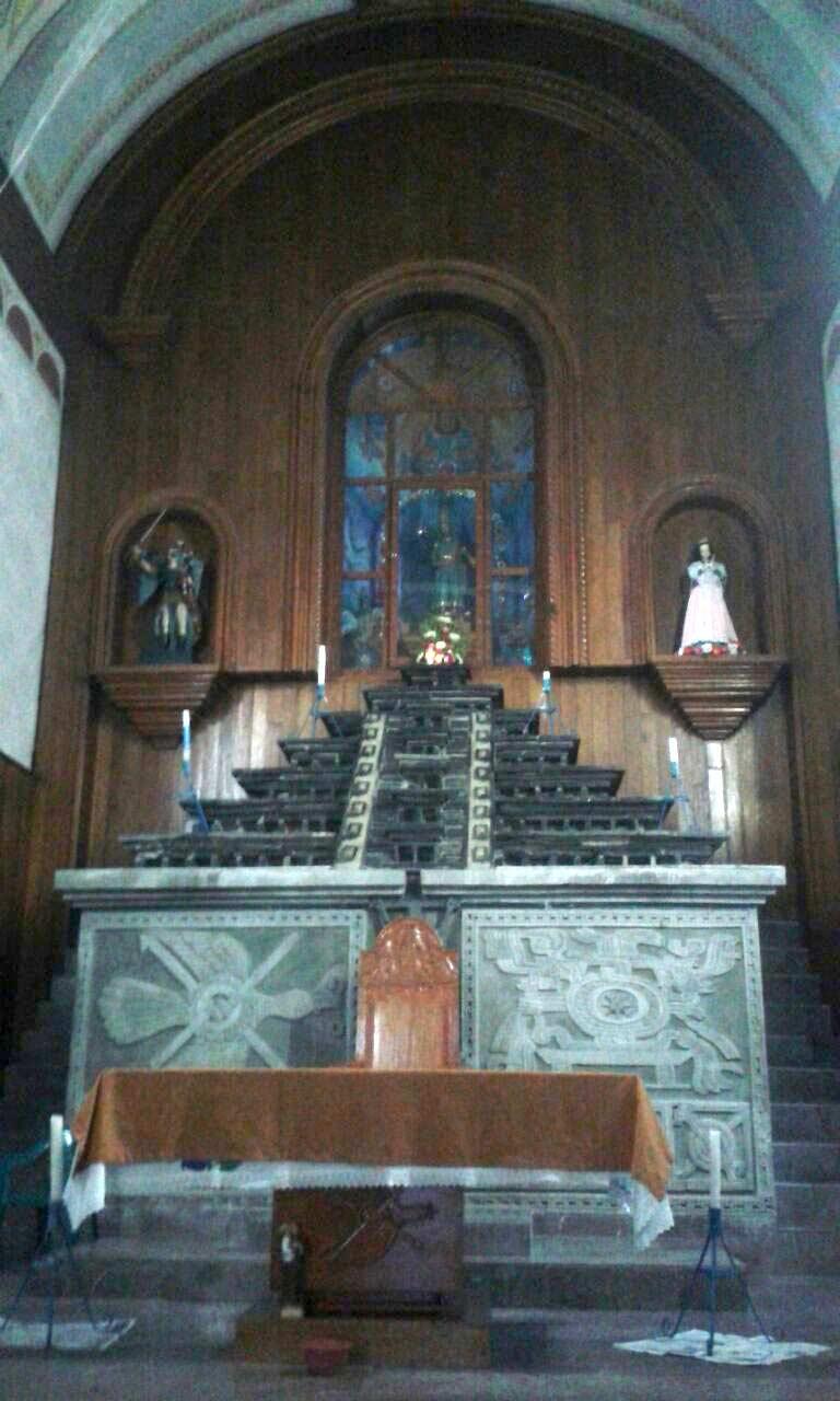 Templo parroquial de San Salvador, Huehuetla Puebla. Imagen. Mitzi de Lara