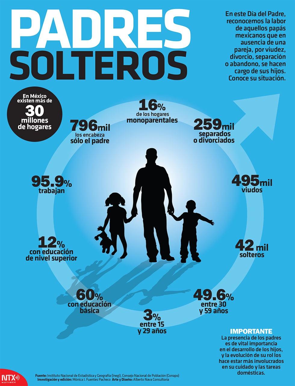 Imagen 2. Infografía Padres Solteros INEGI, 2005