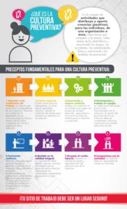 Ilustración 5. Infografía ¿Qué es la cultura de prevención? Diseño de contenido gráfico y lingüístico: Dulce María Vivanco Arévalo. Elaboración propia.