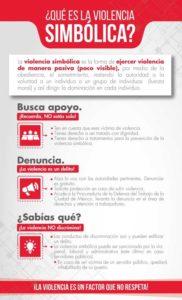 Ilustración 3. ¿Qué es la violencia simbólica? Diseño de contenido gráfico y lingüístico: Dulce María Vivanco Arévalo. Elaboración propia.