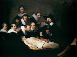 La lección de anatomía del Doctor Nicolaes Tulp. Rembrandt, 1632